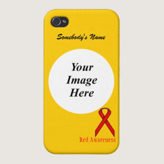 Red Standard Ribbon by Kenneth Yoncich Covers For iPhone 4