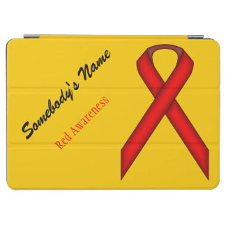 Red Standard Ribbon by Kenneth Yoncich iPad Air Cover