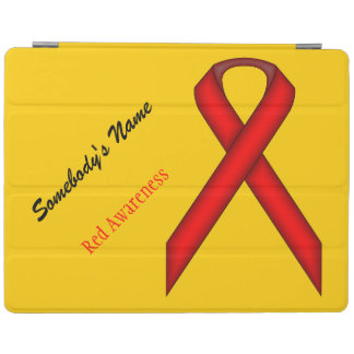 Red Standard Ribbon by Kenneth Yoncich iPad Smart Cover