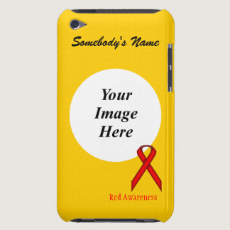 Red Standard Ribbon by Kenneth Yoncich iPod Case-Mate Case
