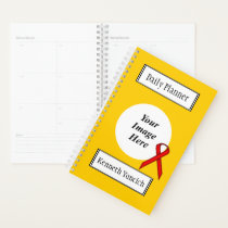Red Standard Ribbon by Kenneth Yoncich Planner