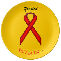 Red Standard Ribbon by Kenneth Yoncich Porcelain Plate