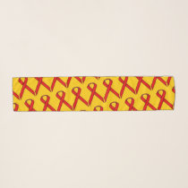 Red Standard Ribbon by Kenneth Yoncich Scarf