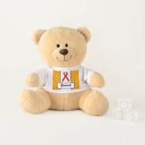 Red Standard Ribbon by Kenneth Yoncich Teddy Bear