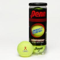 Red Standard Ribbon by Kenneth Yoncich Tennis Balls
