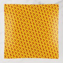 Red Standard Ribbon by Kenneth Yoncich Trinket Trays