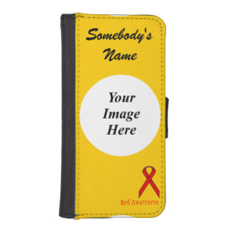 Red Standard Ribbon by Kenneth Yoncich Wallet Phone Case For iPhone SE/5/5s