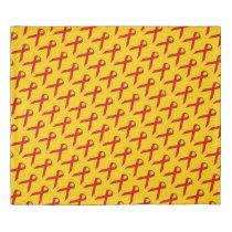 Red Standard Ribbon Duvet Cover