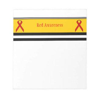 Red Standard Ribbon Notepad
