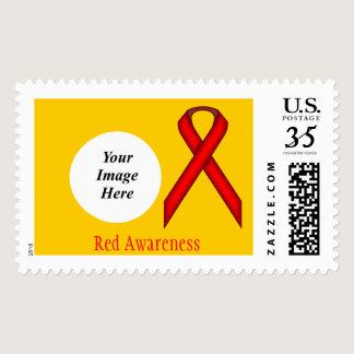 Red Standard Ribbon Postage