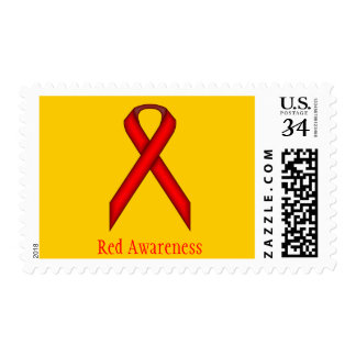 Red Standard Ribbon Postage