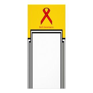 Red Standard Ribbon Rack Card