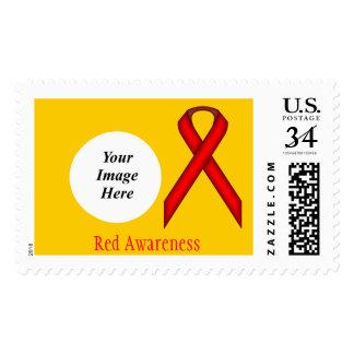 Red Standard Ribbon Stamp