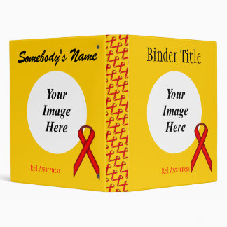 Red Standard Ribbon Template 3 Ring Binder