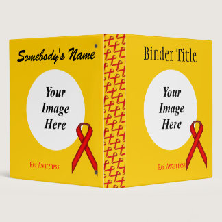 Red Standard Ribbon Template 3 Ring Binder
