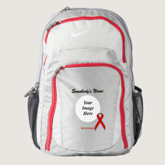 Red Standard Ribbon Template Backpack