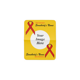 Red Standard Ribbon Template Business Card Holder