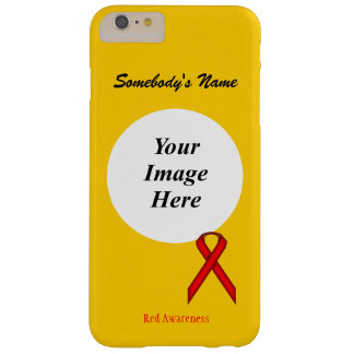 Red Standard Ribbon Template by Kenneth Yoncich Barely There iPhone 6 Plus Case
