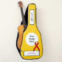 Red Standard Ribbon Template by Kenneth Yoncich Guitar Case