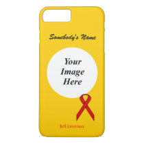 Red Standard Ribbon Template by Kenneth Yoncich iPhone 8 Plus/7 Plus Case
