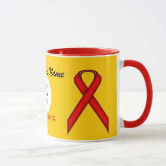Red Standard Ribbon Template by Kenneth Yoncich Mug