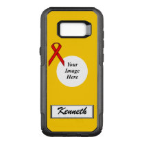 Red Standard Ribbon Template by Kenneth Yoncich OtterBox Commuter Samsung Galaxy S8  Case