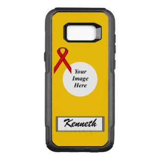 Red Standard Ribbon Template by Kenneth Yoncich OtterBox Commuter Samsung Galaxy S8+ Case