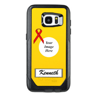 Red Standard Ribbon Template by Kenneth Yoncich OtterBox Samsung Galaxy S7 Edge Case