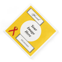 Red Standard Ribbon Template by Kenneth Yoncich Paper Dinner Napkin