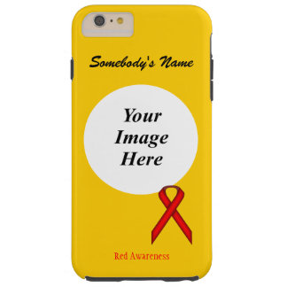 Red Standard Ribbon Template by Kenneth Yoncich Tough iPhone 6 Plus Case