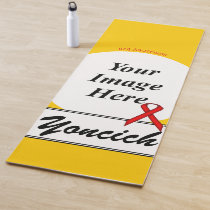 Red Standard Ribbon Template by Kenneth Yoncich Yoga Mat