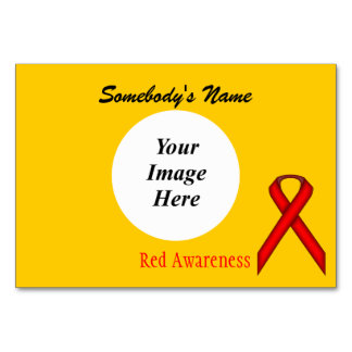 Red Standard Ribbon Template Card