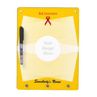 Red Standard Ribbon Template Dry Erase Board