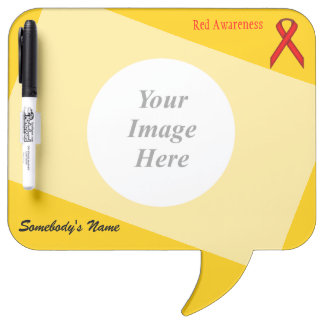 Red Standard Ribbon Template Dry-Erase Board
