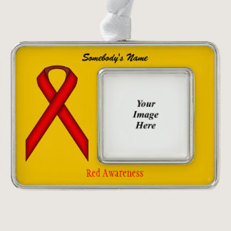 Red Standard Ribbon Template (H-O) Ornament
