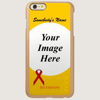 Red Standard Ribbon Template Incipio Feather Shine iPhone 6 Plus Case