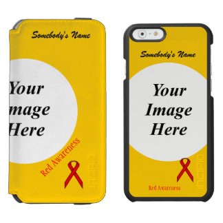 Red Standard Ribbon Template iPhone 6/6s Wallet Case