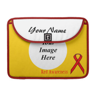 Red Standard Ribbon Template Sleeve For MacBooks