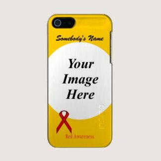 Red Standard Ribbon Template Metallic iPhone SE/5/5s Case
