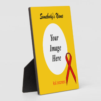 Red Standard Ribbon Template Plaque