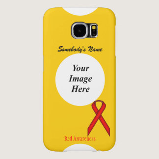 Red Standard Ribbon Template Samsung Galaxy S6 Case