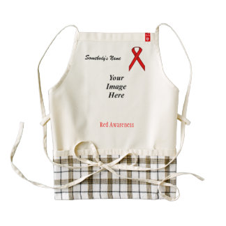 Red Standard Ribbon Template Zazzle HEART Apron