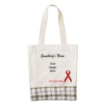 Red Standard Ribbon Template Zazzle HEART Tote Bag