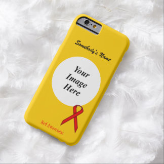 Red Standard Ribbon Tmpl by Kenneth Yoncich Barely There iPhone 6 Case