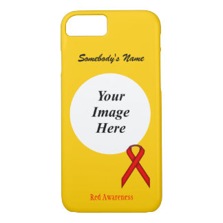 Red Standard Ribbon Tmpl by Kenneth Yoncich iPhone 7 Case