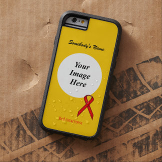 Red Standard Ribbon Tmpl by Kenneth Yoncich Tough Xtreme iPhone 6 Case