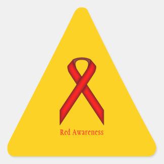 Red Standard Ribbon Triangle Sticker