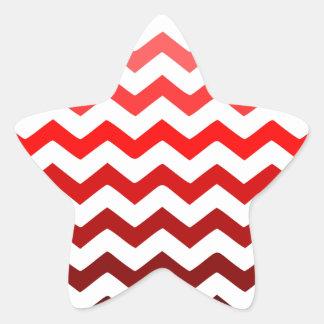 red standard zigzag degradê star sticker
