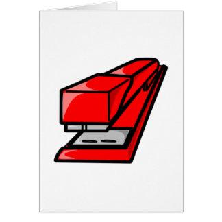 Red Stapler Card