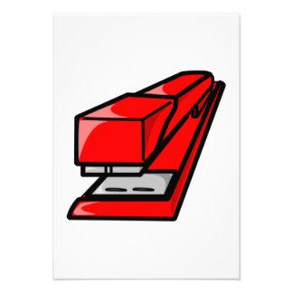 Red Stapler Invitation